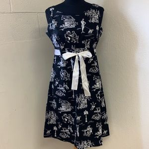 Cafe/dog print dress